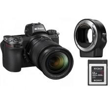 Цифровая Фотокамера NIKON Z7 + 24-70 F4.0 + FTZ Mount Adapter + 64Gb XQD (VOA010K008)