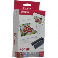 Набор цветных чернил и этикеток (наклейки) Canon KC-18IF (54x86mm, 18 листов) 7740A001