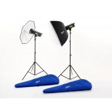 Комплект Lumen8 F400 + 2 стойки, 1 зонт и 1 софтбокс EU