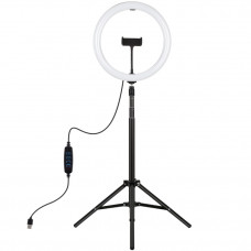 "Кольцевая USB LED лампа Puluz PKT3061B 11.8"" + штатив 1.65 м"
