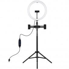 "Кольцевая USB LED лампа Puluz PKT3062B 11.8"" + штатив 1.65 м"