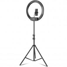 """Кільцева LED лампа Puluz FL940752 18"""" + штатив 2.1 м"""